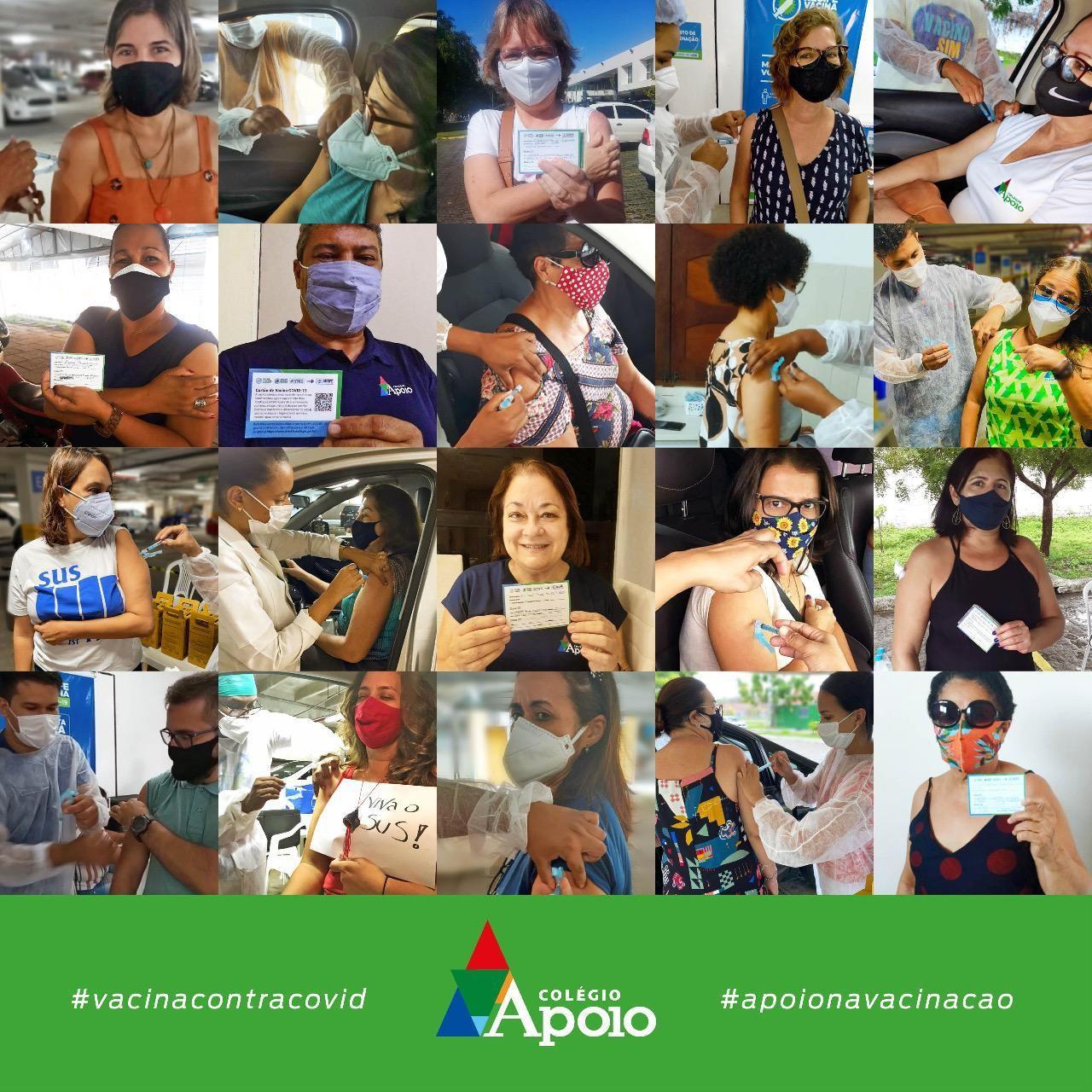 Vacinação dos Professores do Colégio Apoio.
