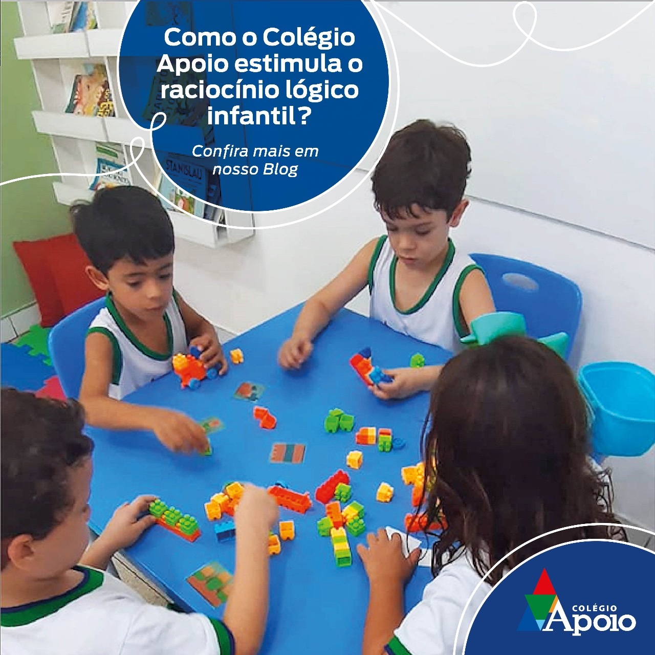 Como o Colégio Apoio estimula o raciocínio lógico infantil?